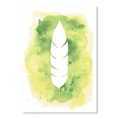 Americanflat 'Watercolour Feather' by Jetty Printables Graphic Art