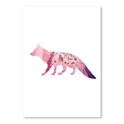 Americanflat 'Psychedelic Fox' by Jetty Printables Graphic Art