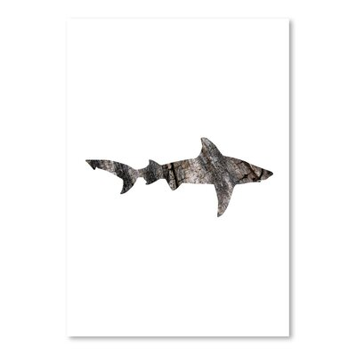 Americanflat 'Wood Grain Shark' by Jetty Printables Graphic Art