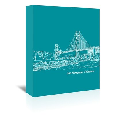Americanflat 'Skyline San Francisco 4' by Brooke Witt Graphic Art Wrapped on Canvas