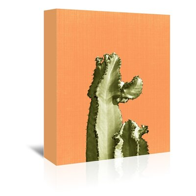 Americanflat Cactus on Orange' by Lila and Lola Graphic Art Wrapped on Canvas