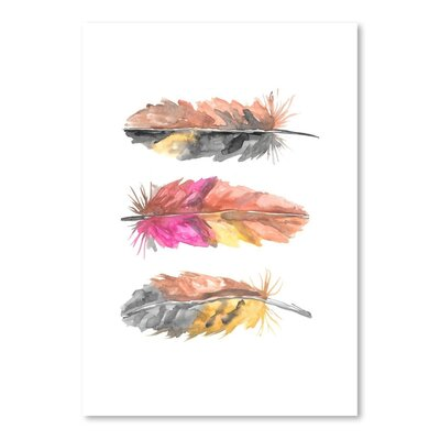 Americanflat 'Tri Feather 2' by Jetty Printables Art Print