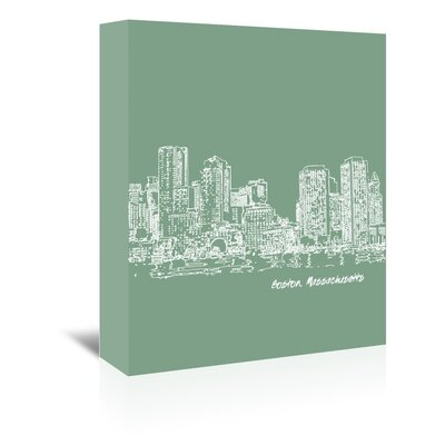 Americanflat 'Skyline Boston 6' by Brooke Witt Graphic Art Wrapped on Canvas