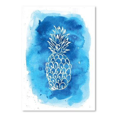 Americanflat 'Watercolourlue Background Pineapple' by Jetty Printables Graphic Art