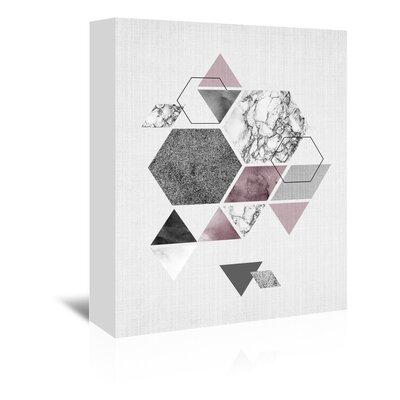 Americanflat 'Geometric Hexagons' by Lila and Lola Graphic Art Wrapped on Canvas
