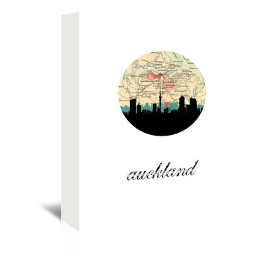 Americanflat 'Auckland Map Skyline' by Paper Finch Graphic Art Wrapped on Canvas