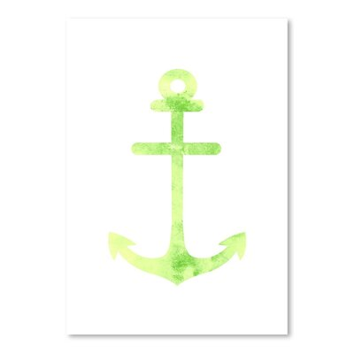 Americanflat 'Watercolour Anchor' by Jetty Print Tables Graphic Art