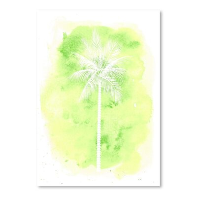 Americanflat 'Watercolour Palm' by Jetty Printables Graphic Art in Green