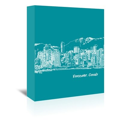 Americanflat 'Skyline Vancouver 4' by Brooke Witt Graphic Art Wrapped on Canvas