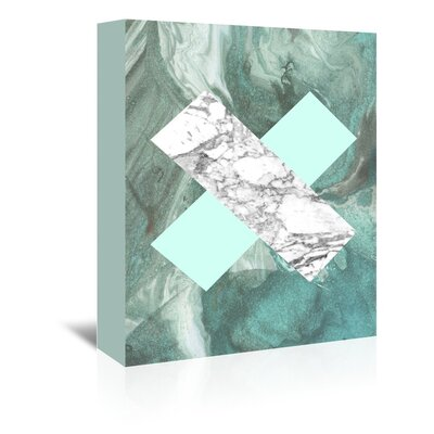 Americanflat 'Geometric Marble X' by Lila and Lola Graphic Art Wrapped on Canvas