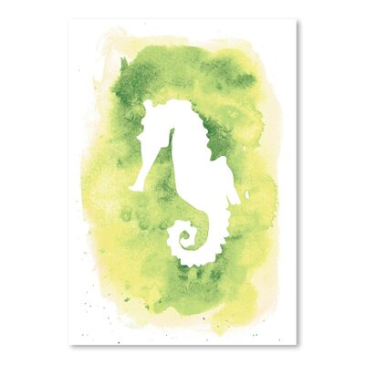 Americanflat 'Background Seahorse' by Jetty Printables Graphic Art