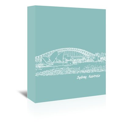 Americanflat 'Skyline Sydney 5' by Brooke Witt Graphic Art Wrapped on Canvas