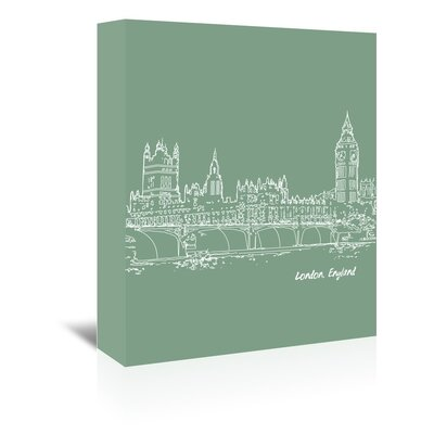Americanflat 'Skyline London 6' by Brooke Witt Graphic Art Wrapped on Canvas