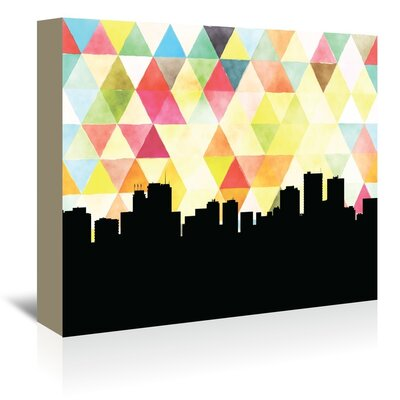 Americanflat 'Anchorage Triangle' by Paper Finch Graphic Art Wrapped on Canvas
