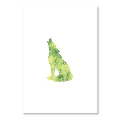 Americanflat 'Watercolour Wolf' by Jetty Printables Graphic Art