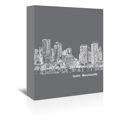 Americanflat 'Skyline Boston 1' by Brooke Witt Graphic Art Wrapped on Canvas