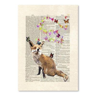 Americanflat 'Fox Butterflies' by Matt Dinniman Graphic Art