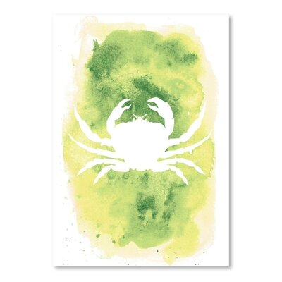 Americanflat 'Watercolour Crab' by Jetty Printables Graphic Art