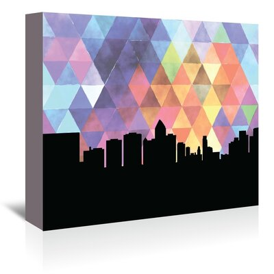 Americanflat 'Bangkok Triangle' by Paper Finch Graphic Art Wrapped on Canvas