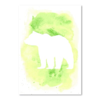 Americanflat 'Watercolour Bear' by Jetty Printables Graphic Art in Green