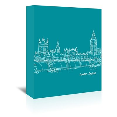Americanflat 'Skyline London 4' by Brooke Witt Graphic Art Wrapped on Canvas