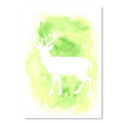 Americanflat 'Watercolour Deer Body' by Jetty Printables Graphic Art
