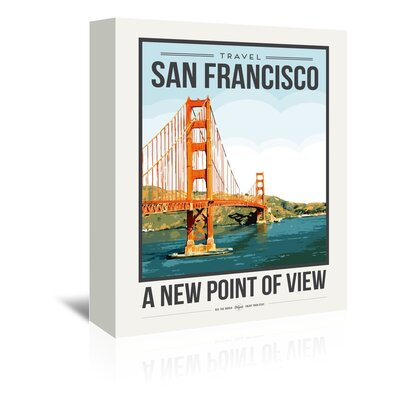 Americanflat 'Travel Poster San Francisco' by Brooke Witt Vintage Advertisement Wrapped on Canvas