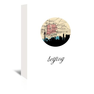 Americanflat 'Beijing Map Skyline' by Paper Finch Graphic Art Wrapped on Canvas