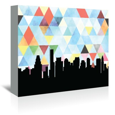 Americanflat 'Boston Triangle' by Paper Finch Graphic Art Wrapped on Canvas