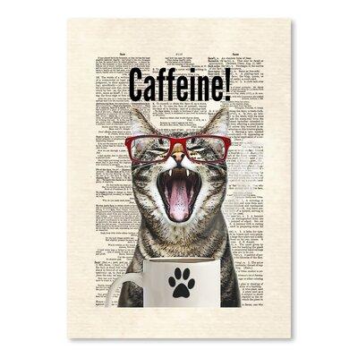 Americanflat 'Cat Caffeine' by Matt Dinniman Graphic Art