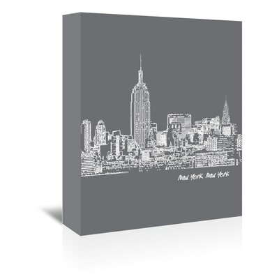 Americanflat 'Skyline New York City 1' by Brooke Witt Graphic Art Wrapped on Canvas