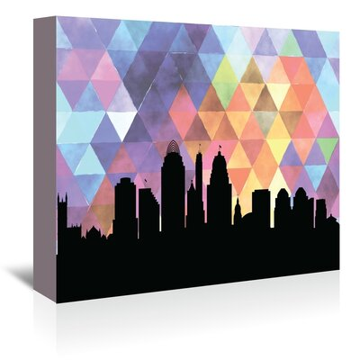 Americanflat 'Cincinnati Triangle' by Paper Finch Graphic Art Wrapped on Canvas