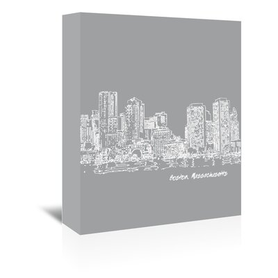 Americanflat 'Skyline Boston 2' by Brooke Witt Graphic Art Wrapped on Canvas