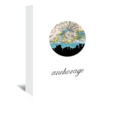 Americanflat 'Anchorage Map Skyline' by Paper Finch Graphic Art Wrapped on Canvas
