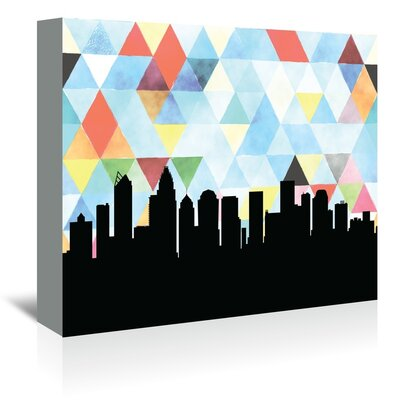 Americanflat 'Charlotte Triangle' by Paper Finch Graphic Art Wrapped on Canvas