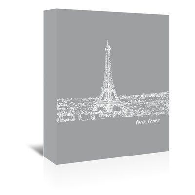 Americanflat 'Skyline Paris 2' by Brooke Witt Graphic Art Wrapped on Canvas
