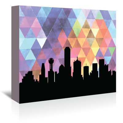 Americanflat 'Dallas_Triangle' by PaperFinch Graphic Art Wrapped on Canvas