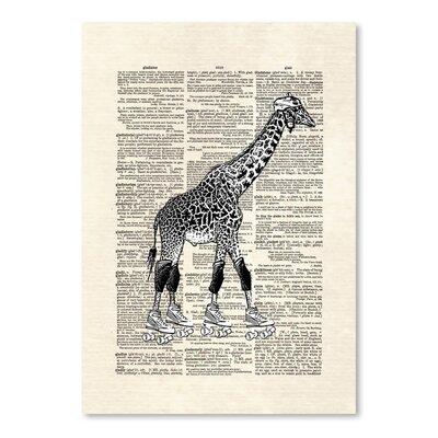 Americanflat 'Derby Giraffe' by Matt Dinniman Graphic Art