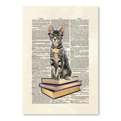 Americanflat 'Book Cat' by Matt Dinniman Graphic Art