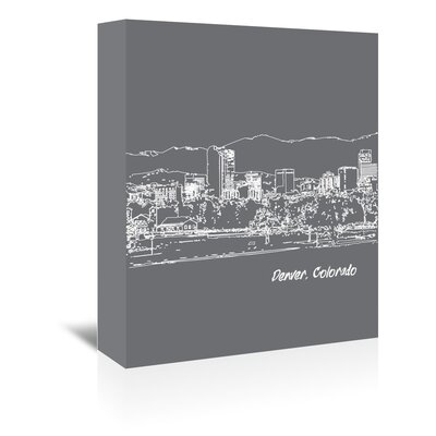 Americanflat 'Skyline Denver 1' by Brooke Witt Graphic Art Wrapped on Canvas