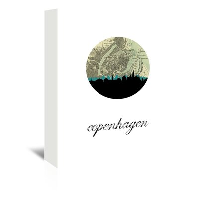 Americanflat 'Copenhagen Map Skyline' by PaperFinch Graphic Art Wrapped on Canvas