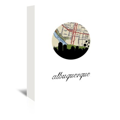 Americanflat 'Albuquerque Map Skyline' by Paper Finch Graphic Art Wrapped on Canvas