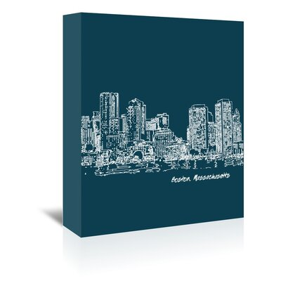 Americanflat 'Skyline Boston 3' by Brooke Witt Graphic Art Wrapped on Canvas