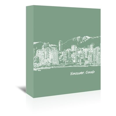 Americanflat Skyline Vancouver 6' by Brooke Witt Graphic Art Wrapped on Canvas