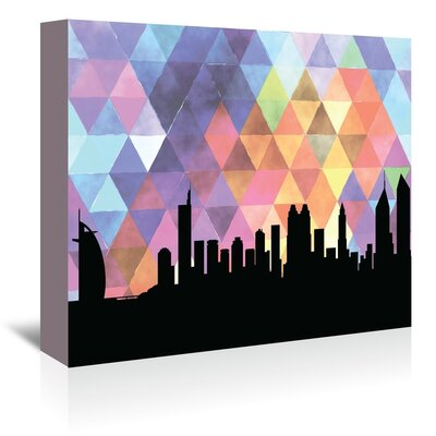 Americanflat 'Dubai_Triangle' by PaperFinch Graphic Art Wrapped on Canvas