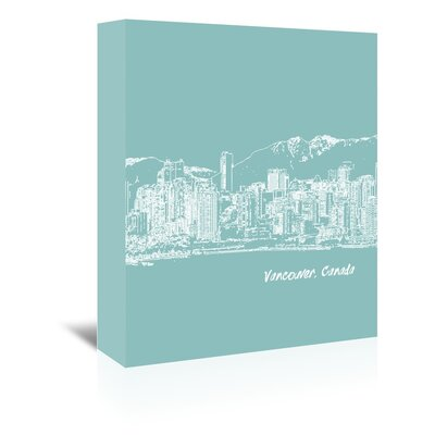 Americanflat 'Skyline Vancouver 5' by Brooke Witt Graphic Art Wrapped on Canvas