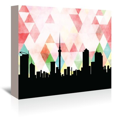 Americanflat 'Auckland Triangle' by Paper Finch Graphic Art Wrapped on Canvas
