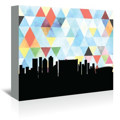 Americanflat 'Cape Town Triangle' by Paper Finch Graphic Art Wrapped on Canvas
