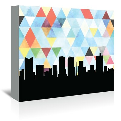 Americanflat 'FortWorth_Triangle' by PaperFinch Graphic Art Wrapped on Canvas