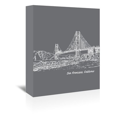 Americanflat 'Skyline San Francisco 1' by Brooke Witt Graphic Art Wrapped on Canvas